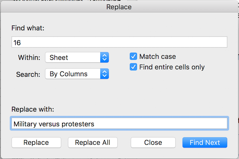 Replacing codes with strings using the provided codebook.
