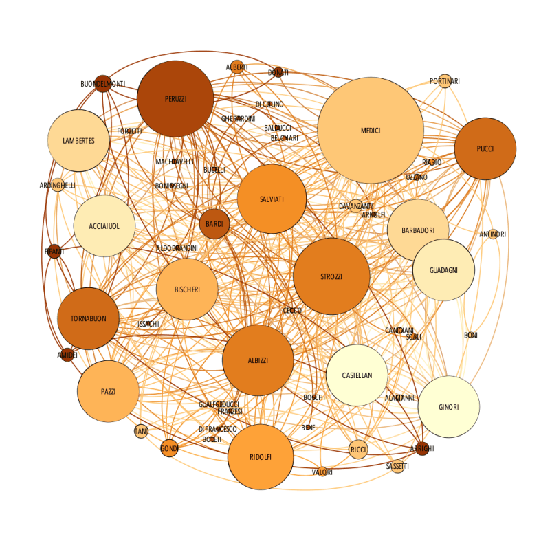 Image of a network of Florentine Families in the 15th century