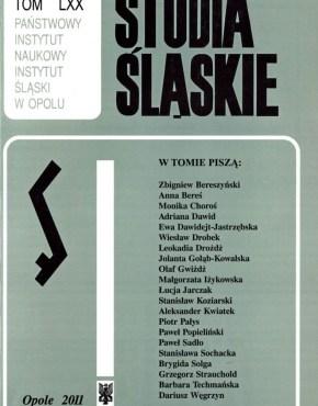Studia Śląskie tom 70