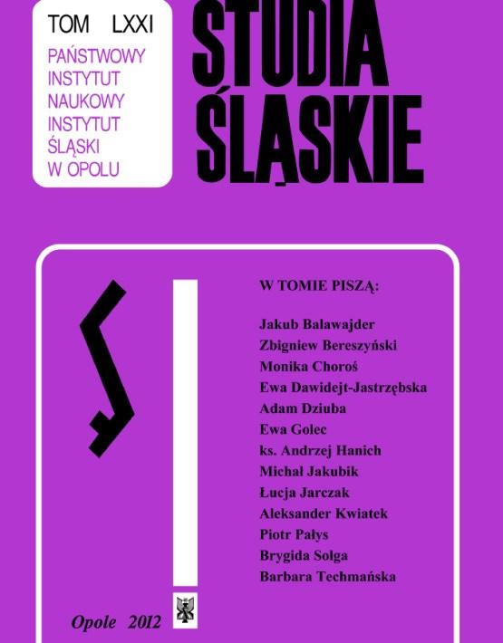 Studia Śląskie tom 71