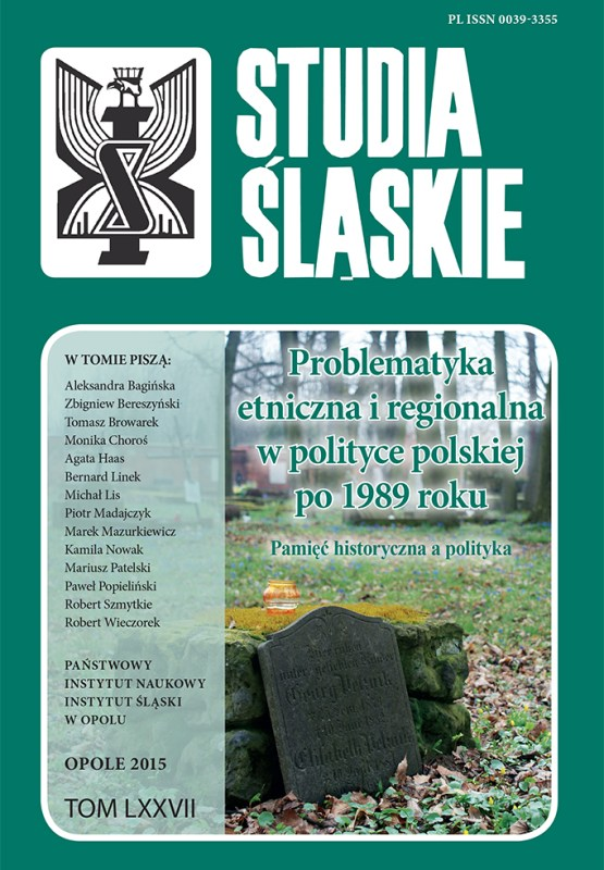 Studia Śląskie tom 77