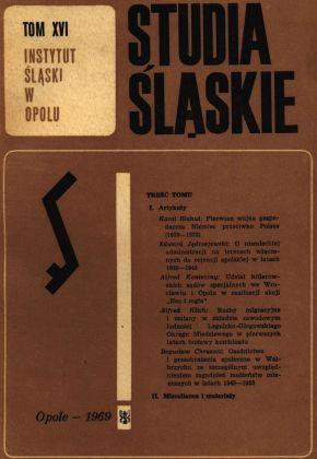 Studia Śląskie tom 16