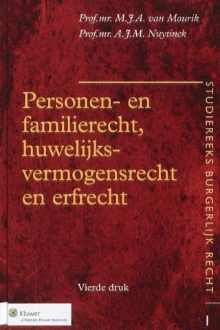 Personen- En Familierecht, Huwelijksvermogensrecht En Erfrecht