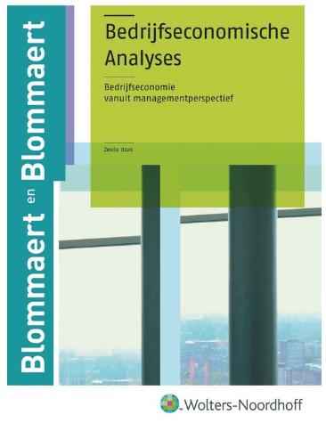 Bedrijfseconomische Analyses