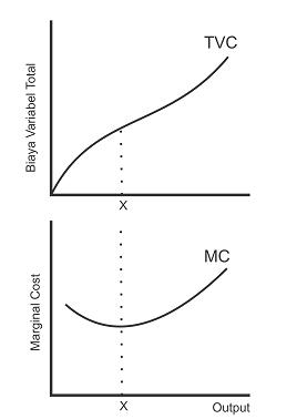 Kurva Biaya Variabel Total dan Biaya Marginal