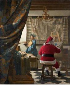 """Ed Wheeler revisite la célèbre toile """"L'allégorie de la peinture"""" de Vermeer."""