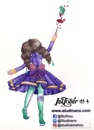 Inktober 2018, Jour 4 : Spell