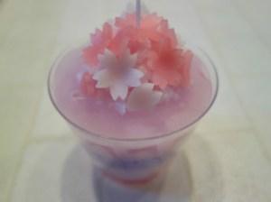 出張講座:桜のキャンドル