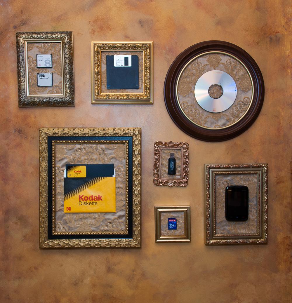 Lost memories held hostage by disk and old phones