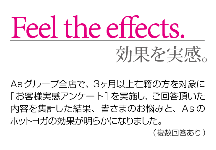 Feel the effects-効果を実感。