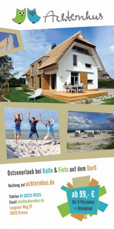 Achternhus, Ferienhaus Prerow, Grafikdesign