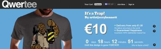 Site Web: Un tshirt par jour