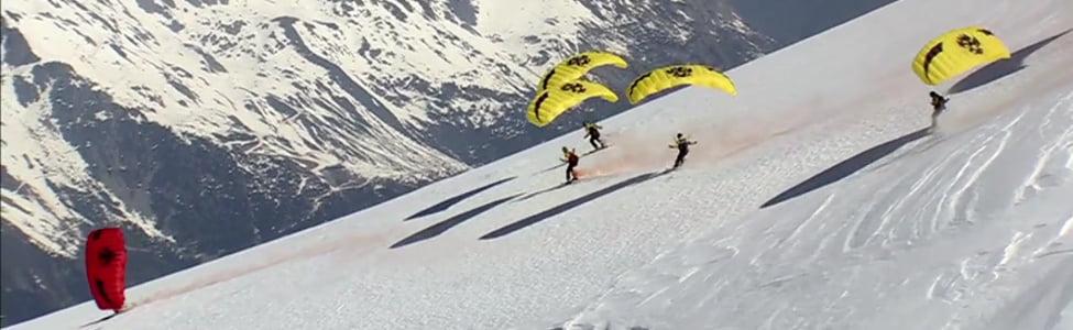 Speed Ridding sur le Mont Blanc