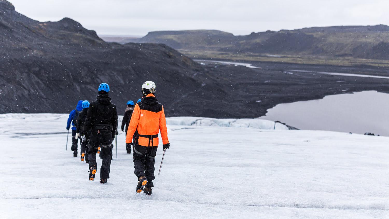 Randonnée sur un glacier en islande