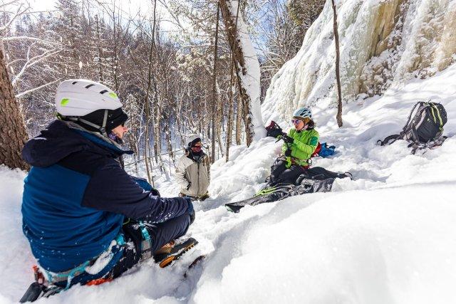 Cours de moulinette en escalade de glace