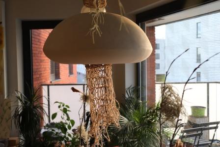 ubur ubur, ceramics, studiojar, leuven, rope, lamp