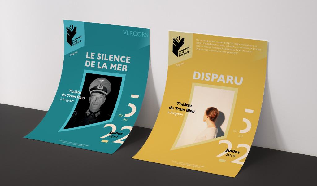 flyer_declinaisons_traverse_theathre_humaniste_dreyfys_silence de la mer_spectacle histoire française_communicaiton_prospectus_flyer