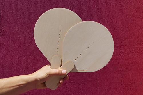 Graphisme et design d'objet ethique, paire de raquette, artisanat numérique, L'ingrédient store