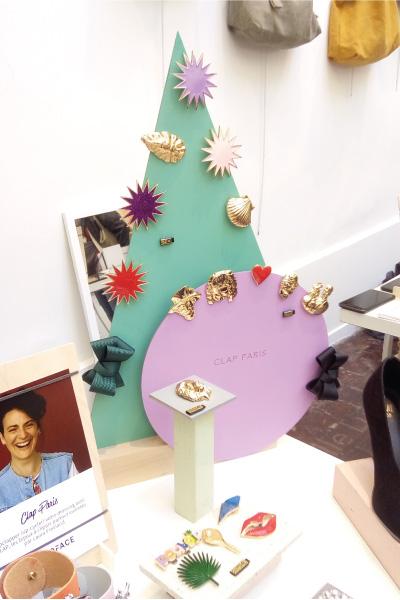 pop-up store CLAP Paris, Accessoires de mode, Design merchandising, creation graphique, gravure logo