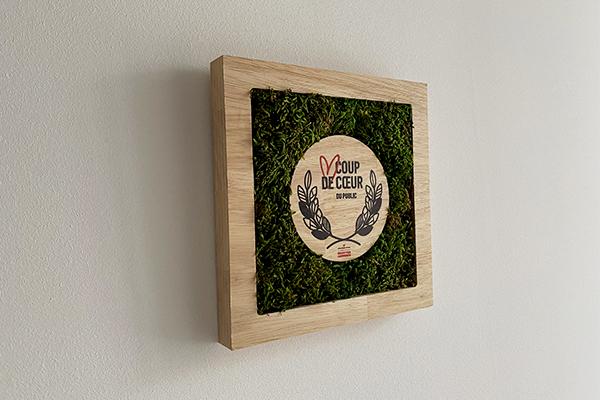 trophée végétale, suspendu au mur, trophée en mousse, coup de coeur, studio l'ingrédient