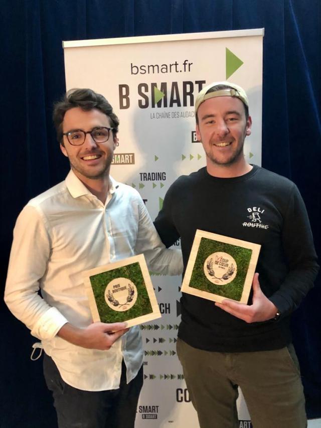 trophée pour entreprise, trophée pour remise de prix, trophée végétal, mousse, studio l'ingrédient, Agence Maddyness