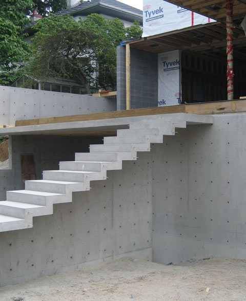 Detail – Cantilevered Stair « Home Building In Vancouver | Concrete Stair Formwork Design | Round | Master | Broken | Slab | Small Space