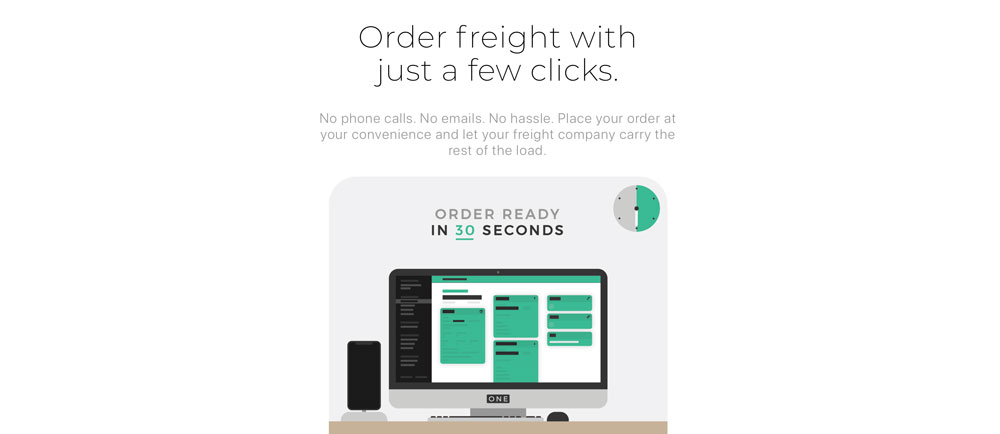 freight one website design