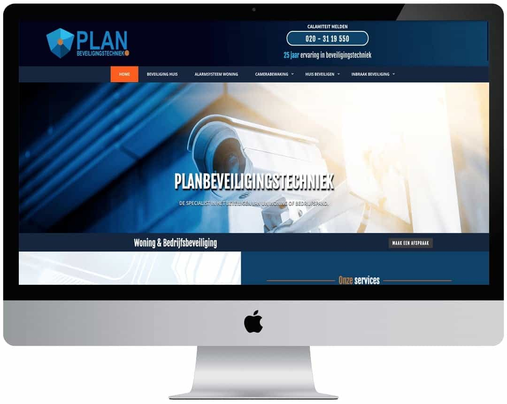 Professionele website in CMS
