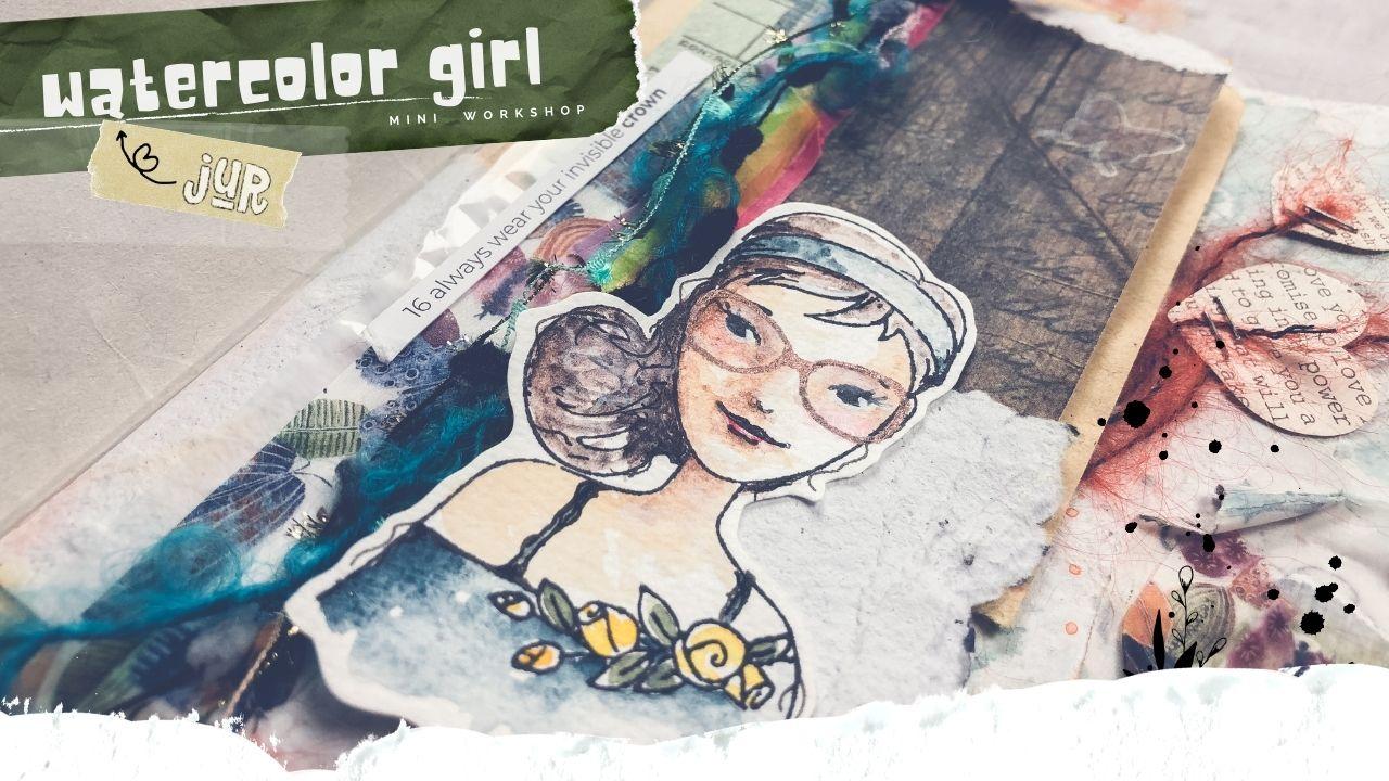 P.16 - watercolor girl
