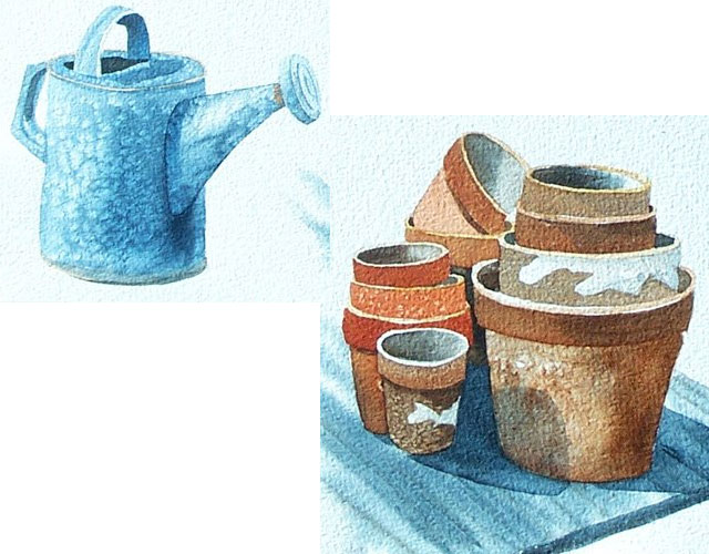 Creating textures in watercolor