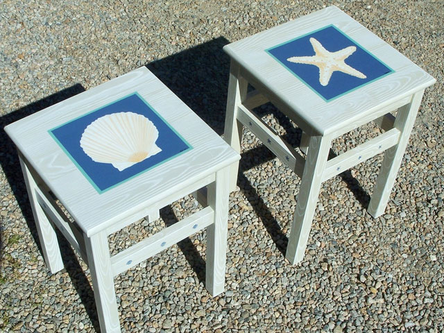 Painting Two in Nautical Series – Hand painted Chairs