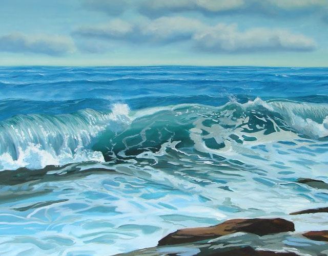 Seascape Oil Painting Step By Step I Have Painted The