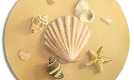 Seashells Hand Painted Artwork For Your Coastal or Beach Themed Rooms