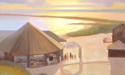 Oil Painting of the Historic Carousel in Watch Hill Rhode Island In progress – Follow Along