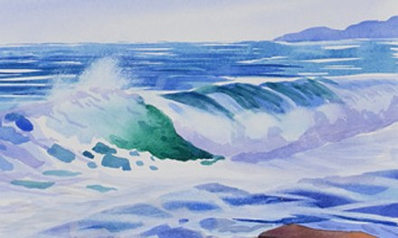 Painting 2 In My Ocean Waves Series – 10 inch by 13 inch Watercolor