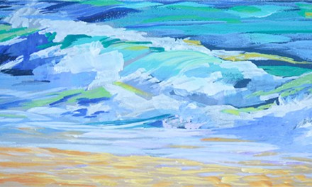 Breaking Ocean Wave Series – Continuing Painting Four In Oil