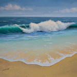 Final Details Ocean Wave Seascape Oil Painting