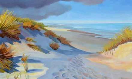 """Beach Dune Shadows"" New Oil Painting"