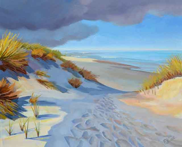 """Beach Dune Shadows"" New Oil Painting"