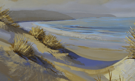 Sand Dunes Aglow-Original Oil Painting