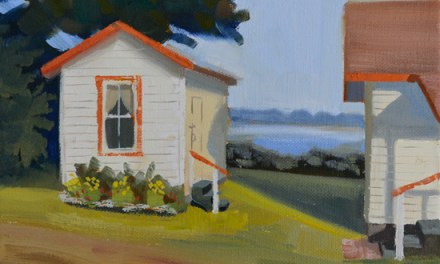 Maine Landscape Painting The Guest Cabin