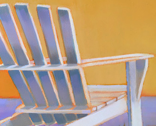 Feel the Warmth From Adirondack Chair Oil Painting