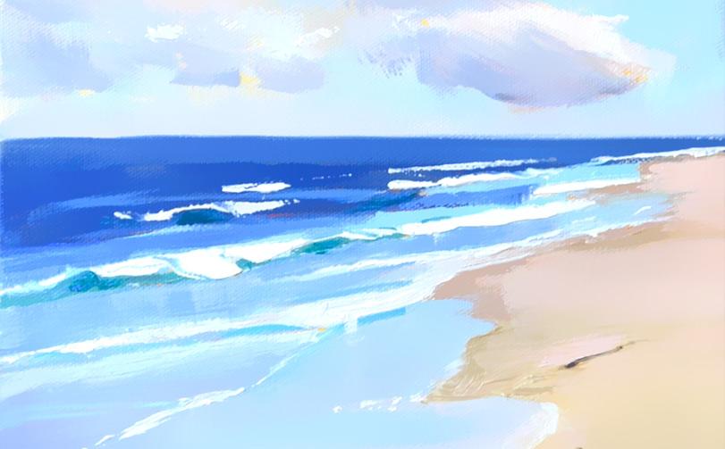 Surf Beachscape Work In Progress