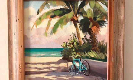 Florida Ocean Beach Bicycle Painting On Sale!