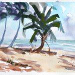 Breezy Palms Watercolor