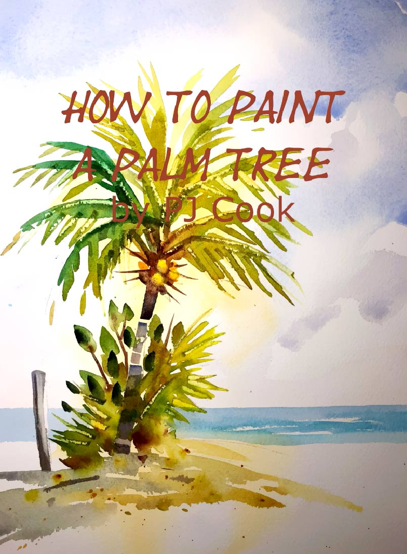 How to paint a palm tree video demonstration.