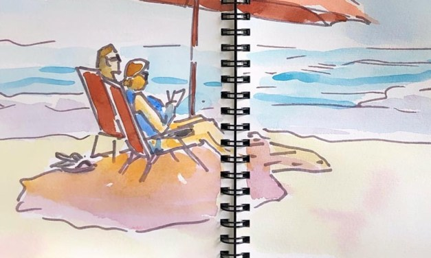 Watercolor and Line Sketching