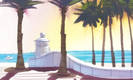 How to Painting Tutorial sunlit beach scene with palm trees