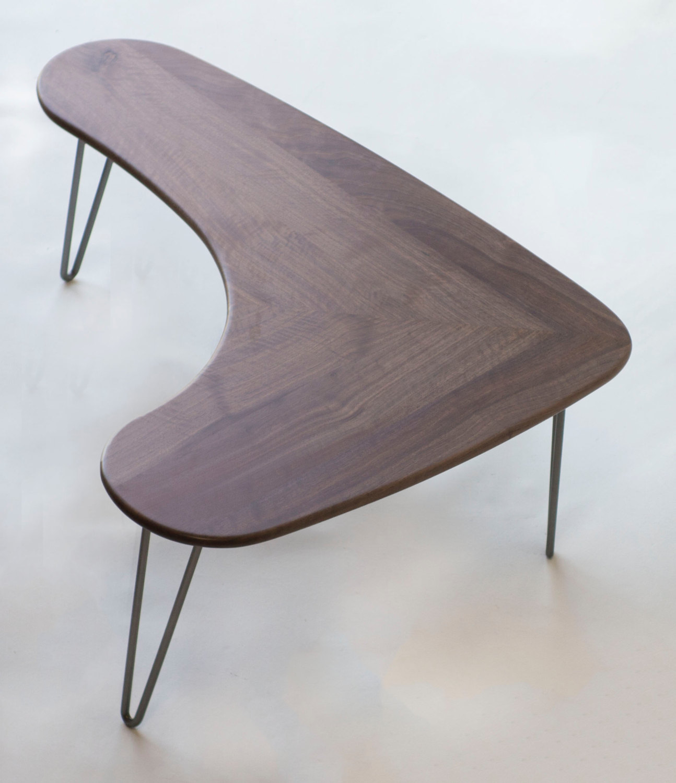 Bon QUICK SHIP! Mid Century Modern Walnut Boomerang Coffee Table ...