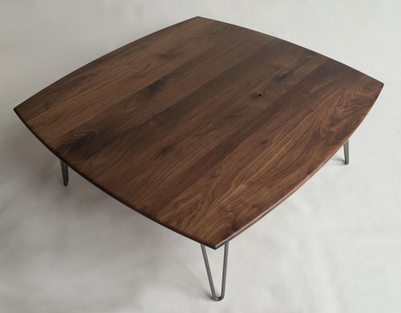 773e60b6c456 Solid Walnut Square Mid Century Modern Coffee Table